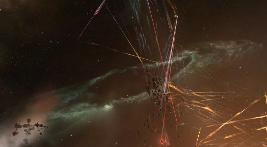 The Shadow Cartel Fleet Engaging Collapsed Out and Pandemic Legion in the Abandoned Jovian Observatory
