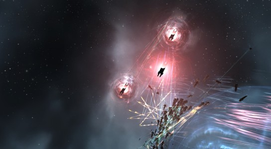 Low Sec Voltron Triage Carriers Jump into the Battle