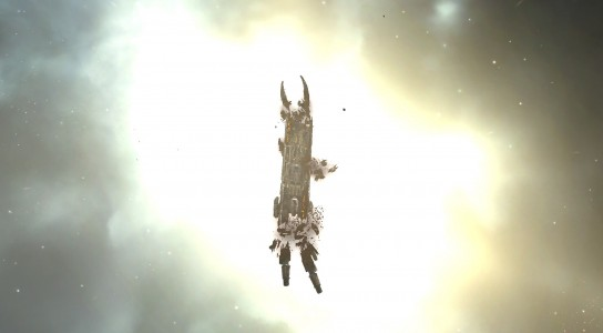 A Get Off My Lawn Archon Carrier in Its Final Moments, Destroyed by the Allied Fleets
