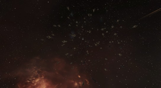 The Pandemic Legion Proteus Fleet Waiting on the Station Grid in the FDZ4-A System