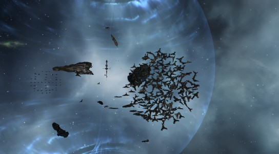 The Allied Rattlesnake Fleet Waiting on a Titan for a Bridge