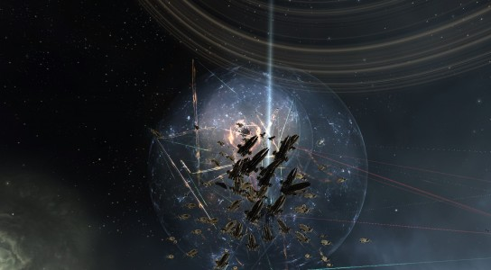 The Imperium machariel Fleet on the M-OEE8 Gate in the J-GAMP System, Engaging the Allied Armada