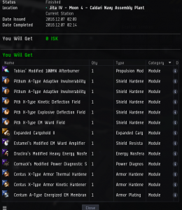 The Loot from the Revenant Contracted to Atnac for his Part in the Ambush