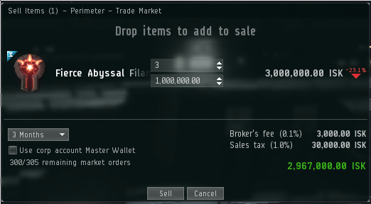 Broker's fees in a Perimeter Citadel