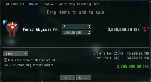 Broker's fee in Jita